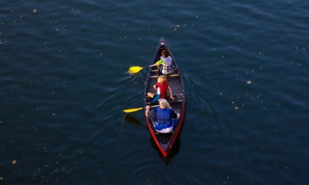 Litter Pick In A Canoe