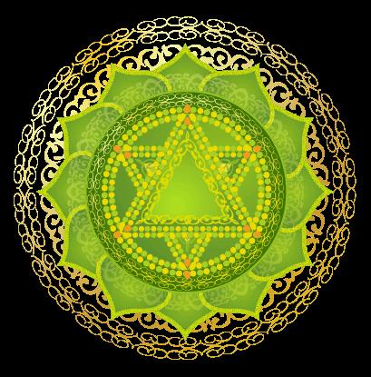 Detailed Heart Chakra Symbol