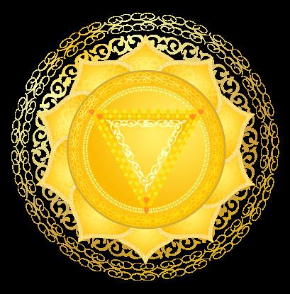 Detailed Root Solar Plexus Symbol